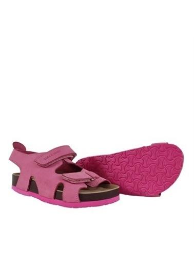 Kids A More Mira Çift Cırtlı Deri Kız Çocuk Sandalet Pembe Pembe